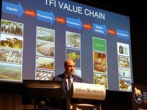 TFI COO David McKay at the World Merino Insight conference.