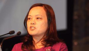 Nanshan Wool Marketchairwoman Madame Yang.
